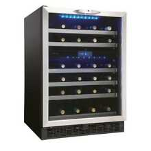 Danby DWC518 24 Inch Wide 51 Bottle Capacity Built In Wine Cooler with Dual Temp