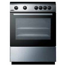 Summit CLRE24 24 Inch Wide 2 4 Cu  Ft  Capacity Free Standing Electric Range wit