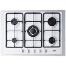 Summit GC527TK 30 Inch Wide Built In Gas Cooktop with Sealed Sabaf Burners  Dual