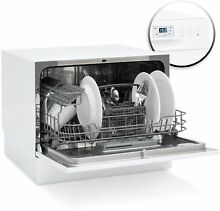 Portable Stainless Steel Kitchen Dishwasher w  6 Place Setting Compact Design