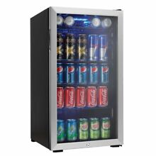 Danby 120 Can Beverage Center  Stainless Steel Soda Beer Cooler Refrigerator New