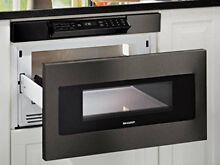 Sharp SMD2470AH 24  Black Stainless Microwave Drawer Hidden Controls