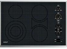 Wolf 30 Inch 4 Heating Elements Smoothtop Touch Electric Black Cooktop CT30ES