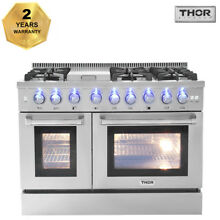 Thor 48 Gas Rangetop Double Electric Oven 6 Burners Cooktop Dual Fuel HRD4803U