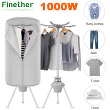 1000W Electric Clothes Dryer Heater Rack Wardrobe Folding Drying Machine Timer