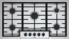 Bosch 500 Series 36  5 Sealed Burners Stainless Gas Cooktop NGM5656UC
