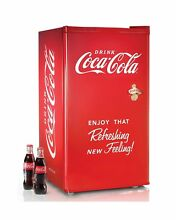 Nostalgia Coca Cola Series RRF300SDBCOKE 3 2 Cubic Foot Refrigerator with Freeze