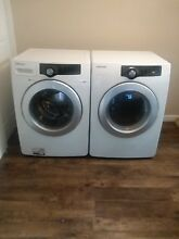 Washer and Dryer Set from Samsung all white Great Condition