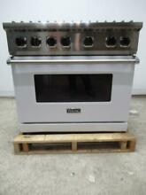 Viking Professional 5 Series 36 Inch Convection Pro Style Gas Range VGR5366BWH