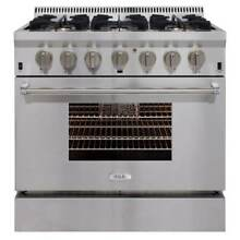 AGA APRO36DF Professional Series 36 Inch Wide 5 2 Cu  Ft  Slide In Dual Fuel Ran