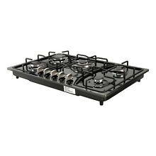 30  Titanium Stainless Steel 5 Burners Cooktop Built In Stove LPG NG Gas Hob
