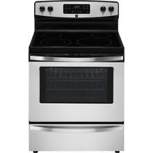Kenmore 94173 5 3 cu  ft  Self Clean Electric Range in Stainless Steel