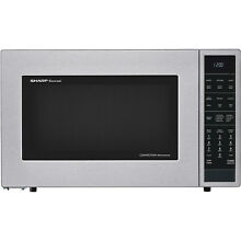 Sharp SMC1585 25 Inch Wide 1 5 Cu  Ft  Countertop Microwave with Convection Cook
