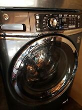 GE Washer Front Load Gray Stainless Steel with Owners Manual