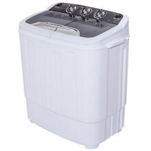 13lbs Washing Machine Washer Spin Dryer Compact Mini Twin Tub