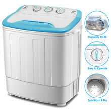 Top Load Mini Portable Twin Tub Washing Machine 13lb Washer Spin