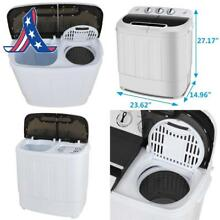 Zeny Portable Compact Mini Twin Tub Washing Machine 13Lbs Capacity With Spin Dry