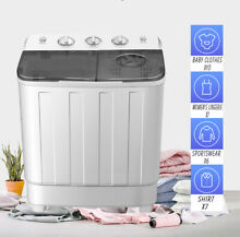 17LBS Top Loading Mini Washing Machine Portable Twin Tub Washer Dryer Electric