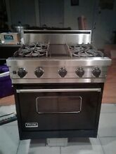 VIKING  30  Professional Gas Range 4 Burner Stove   Black