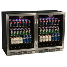 EdgeStar CBR1501SGDUAL 47 W 296 Can Built In Beverage Cooler with Tinted Door
