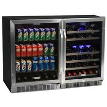 EdgeStar CWBV14846 48 W 46 Bottle 148 Can Side by Side Wine   Beverage Center