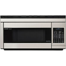 Sharp R1874T 30 Inch Wide 1 1 Cu  Ft  Over the Range Microwave with Convection C
