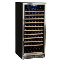 EdgeStar CWR1211SZ Stainless Steel 23  Wide 121 Bottle Built In Wine Cooler