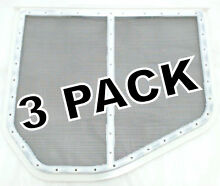3 Pk  Dryer Lint Screen for Whirlpool  Sears  Kenmore  AP3967919  W10120998