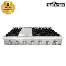 Thor Kitchen 48  Gas Rangetop Cooktop 6 Burner stainless steel Griddle HRT4806U