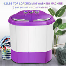 9 9LBS Portable Compact Mini Washing Machine Twin Tub Laundry Dryer Top Loading