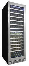 Danby DWC140D1 24 Inch Wide 129 Bottle Capacity Built In Wine Cooler with Dual T