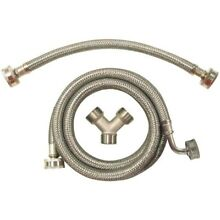 Certified Appliance STMKIT2 Braided Stainless Steam Dryer Install Kit MGH