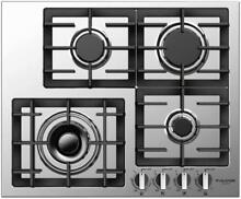 Fulgor Milano F4GK24S1 Stainless Steel 24 W Gas Cooktop w  Electric Re Ignition