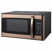 Hamilton Beach 1 1 cu FT Kitchen Microwave Oven Cooking Copper 1000W LED Display