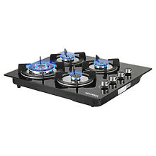 WINDMAX Brand 24 Tempered Glass Built in Cooktops Stove 4 Burners LPG NG Gas Hob