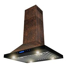 30  Island Mount Kitchen Range Hood Elegant Vine Design