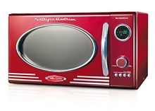 Nostalgia RMO400RED Retro 0 9 Cubic Foot 800 Watt Countertop Microwave Over  Red