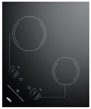 Summit CR2B121 22 Inch Wide Built In Electric Cooktop with Residual Heat Indicat