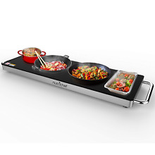 Portable Electric Food Hot Plate   Stainless Steel Warming Tray Dish Warmer w