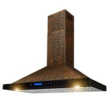 36  Wall Mount Kitchen Range Hood Elegant Vine Design