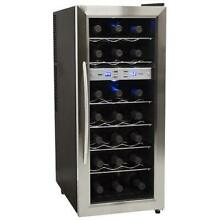 EdgeStar TWR215ESS 13in Wide 21 Bottle Wine Cooler with Dual Cooling Zones