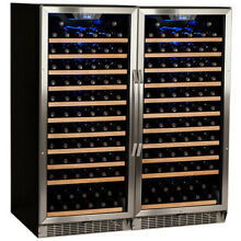 EdgeStar CWR1211SZDUAL Stainless Steel 47  Wide 242 Bottle Built In Wine Cooler