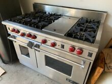 48  Wolf Gourmet Gas Range 6 Burner  griddle  two ovens