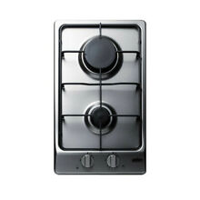 Summit GC22SS 2 Burner Gas Cooktop   Stainless Steel