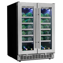 Danby DWC047D1 24 Inch Wide 42 Bottle Capacity Built In Wine Cooler with Dual Te