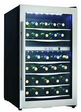 Danby DWC040A3 20 Inch Wide 38 Bottle Capacity Free Standing Wine Cooler with Du