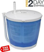 Portable Manual Washing Machine Hand Cranked Non Electric Spin Dryer Counter Top