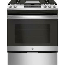 GE Appliances JGSS66SELSS 30  Slide In Front Control Gas Range   Stainless Steel