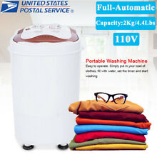 Mini Portable Compact Washer Washing Machine Full Automatic Spin 4 4Lbs Capacity