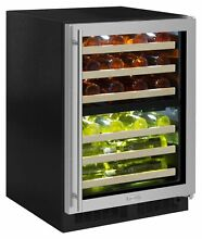 Marvel ML24WDR Stainless Steel 24  Wide 40 Bottle Built In Dual Zone Wine Cooler